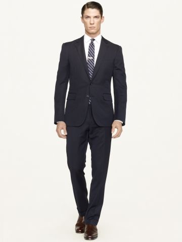 ralph lauren black label anthony wool gabardine suit