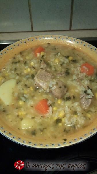 Kρεατόσουπα με λαχανικά 2 #sintagespareas
