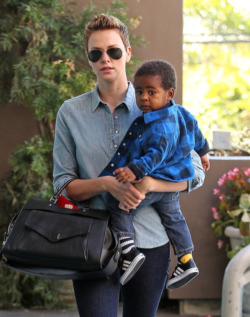 Charlize Theron and here adorable little boy Jackson - Celebrity Baby Scoop