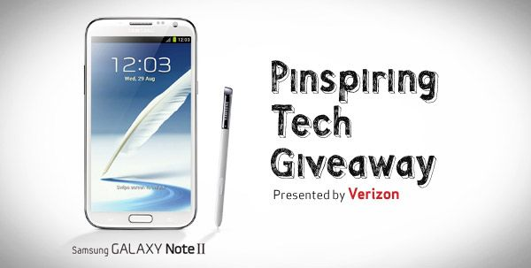 Win the latest #PinspiringTech - the new Samsung Galaxy Note II - and you can achieve the perfect balance of productivity and personalization.