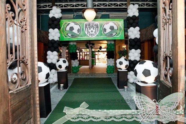 entrada de festa - tema futebol