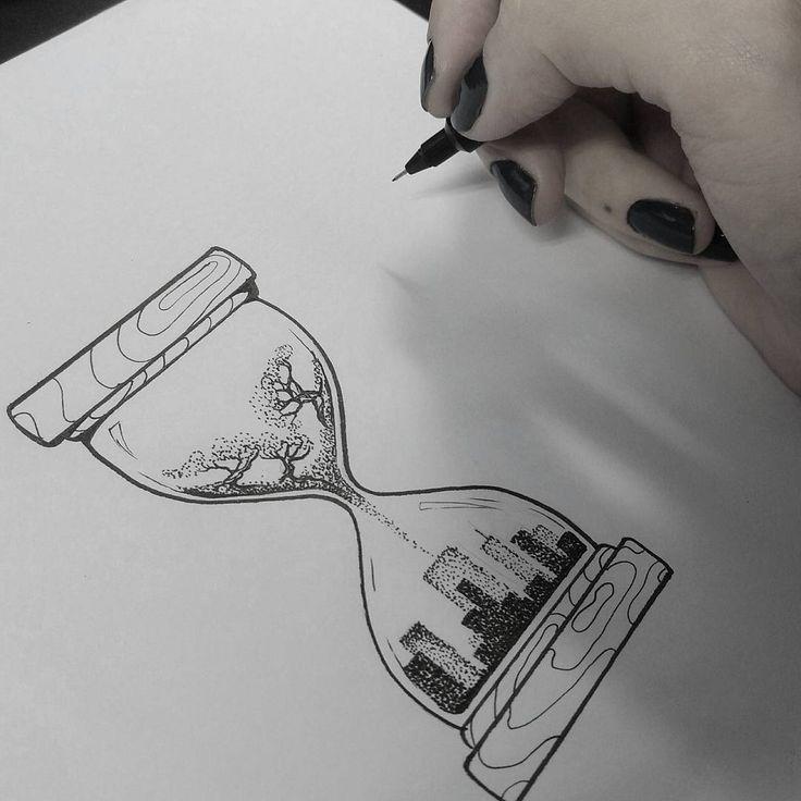 Zeichnung der Künstlerin Taisa Santiago (Taisatattoo) aus Blumenau. Handle