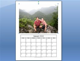 Calendar with own photos - this was a piece of cake even for a techno challenged person like me.