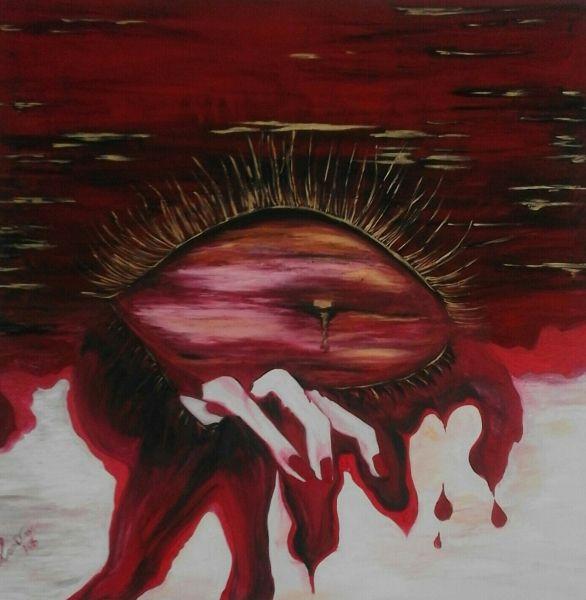 Eyes sunset blood by Anna Maria Fazio