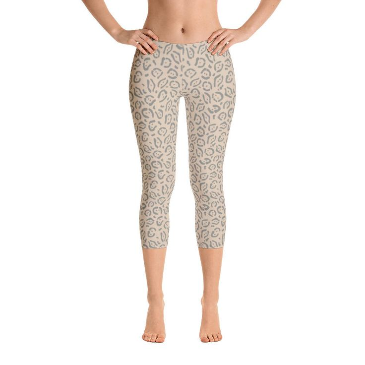 Excited to share the latest addition to my #etsy shop: Animal Skin-Capri Leggings, USA, printful http://etsy.me/2Fddzc9 #clothing #women #pants #animal #nude #pattern #skin #wild #light