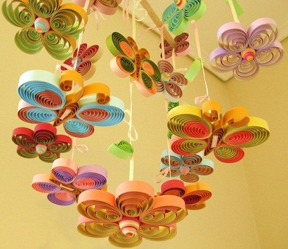Items similar to 3 x Spring Whimsical rain clouds Mobiles for nursery by The Butter Flying on Etsy