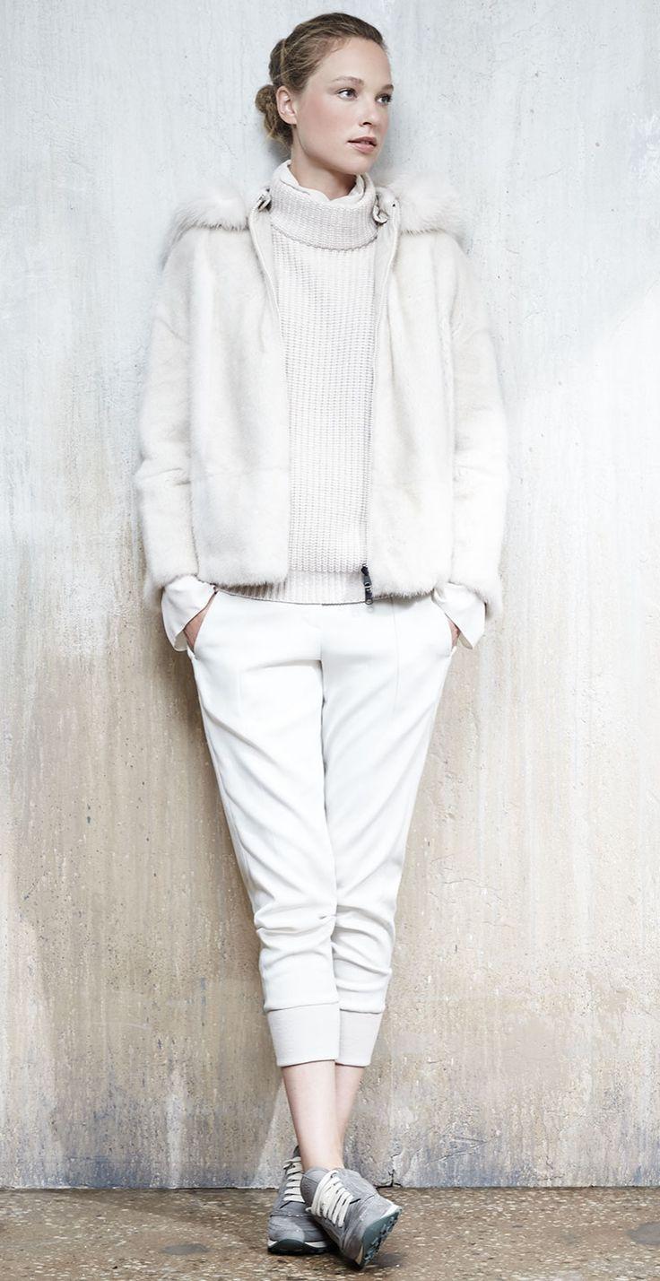 all white in Brunello Cucinelli