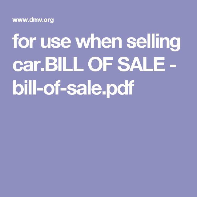 Más de 25 ideas increíbles sobre Bill of sale car en Pinterest - bill of sale land