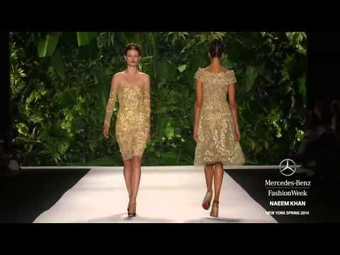 """""""NAEEM KHAN"""" Fashion Show Spring Summer 2014 - niektóre z tych sukienek są niesamowite!"""