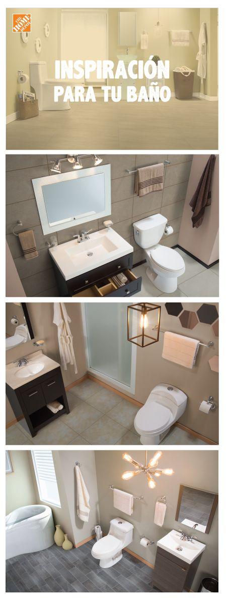 Inspiración para tu baño. Encuentra todos los productos que necesitas para tu baño. Visita nuestro catálogo de baños, da clic en la imagen.