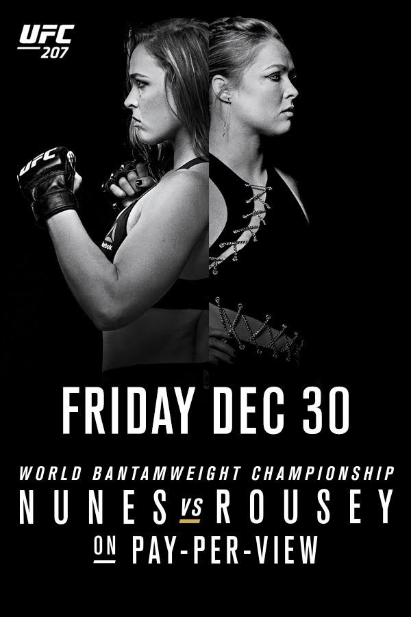 She's back! Order UFC 207 featuring Nunes vs Rousey for the bantamweight title. Streaming LIVE on Friday, December 30.