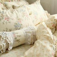 Элегантный хаки кружева наборы постельных принадлежностей, хлопок девушки полный королева король, роскошные singel двуспальная кровать ткани наволочка пододеяльник кровать юбки(China (Mainland))