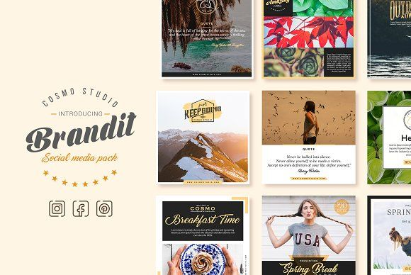 Brandit Social Media Pack by Cosmo Studio on @creativemarket