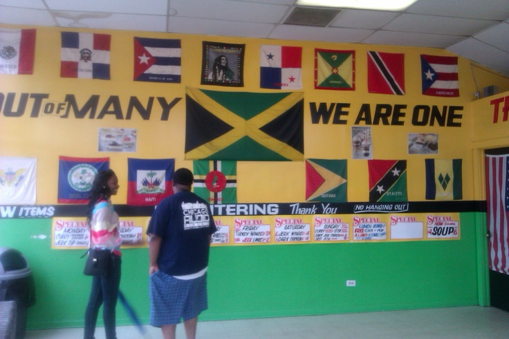This is the inside of a restaurant on 80th & Ashland here in Chicago called Jamaican Cuisine & their jerk chicken is ON HIT!!!!