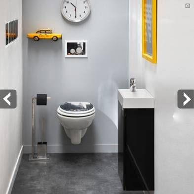 23 best images about d co toilettes on pinterest toilets fonts and magazines - Deco wc blauw ...