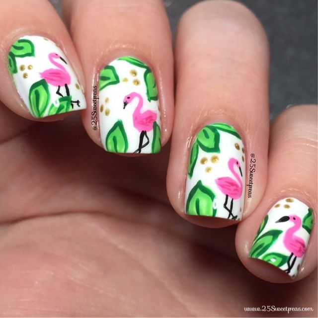 Flamingo Nails - 25 Sweetpeas