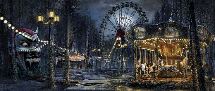 Image result for abandoned carnival | Carnival art, Creepy