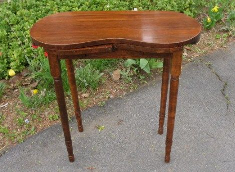 Vintage Wood Kidney Shaped Vanity Table Dressing Sewing Computer Pee Size For The Home Pinterest And
