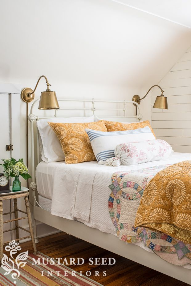 using old quilts everyday - Miss Mustard Seed