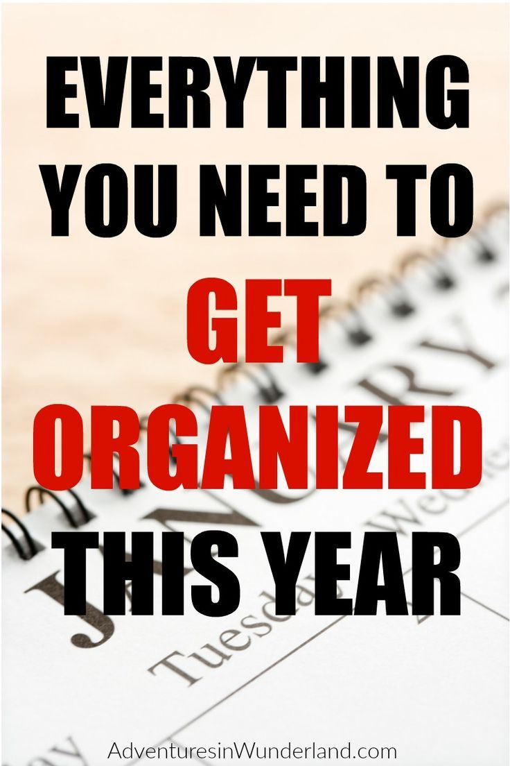New year means new resolutions and I'm always thinking about organization!  Who doesn't love a clean and organized home?!  These are great tips to get organized this year