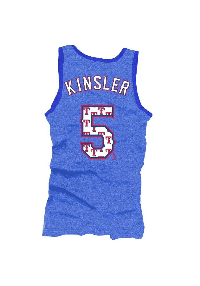 Texas (TX) Rangers Women's Royal Tri-Blend Kinsler Player Tank by Majestic Threads $39.95