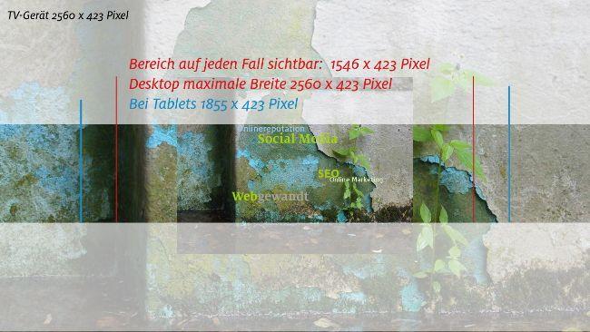 Kanalbild YouTube im neuen Design - Titelbild webgewandt als Beispiel - mit Maßangaben. Artikel in meinem Serviceblog (4.5.2013)