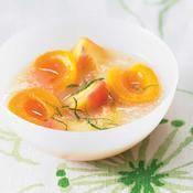 Nage de fruits jaunes parfumés à la menthe - une recette Allégé - Cuisine