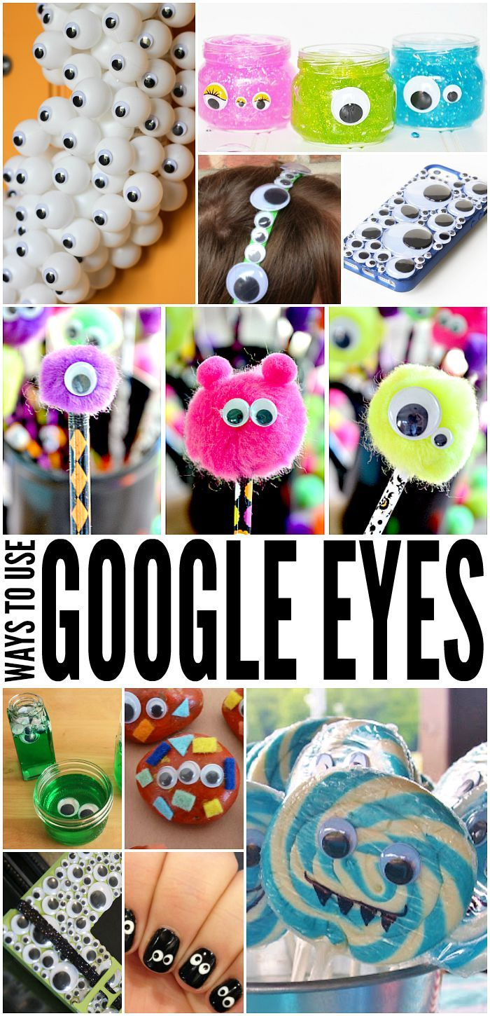 So many ways to use google eyes! These are such a cute kid's craft!