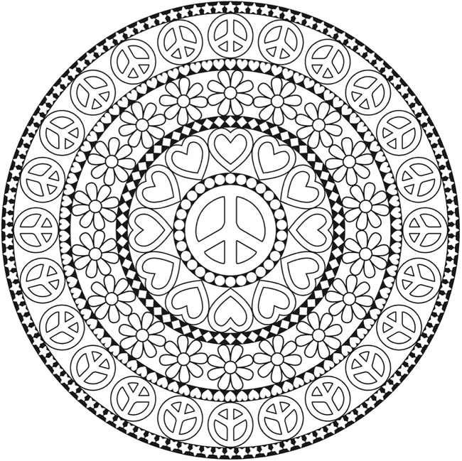 mandalas colouring page