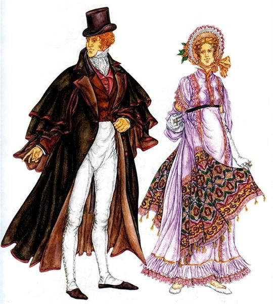 Французский женский костюм 19 века