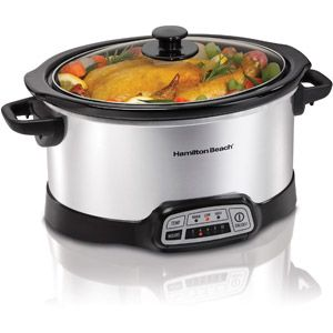 30$ Hamilton Beach 6-Quart Programmable Slow Cooker, Silver