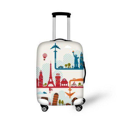 Fashion Luggage Cover World Icons - FREE SHIPPING!