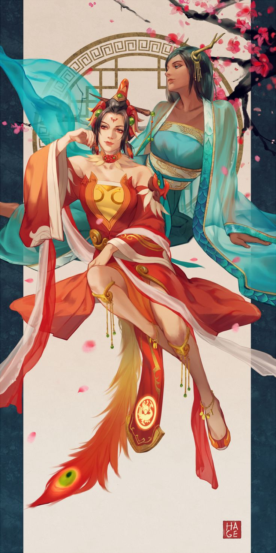 Overwatch Mercy and Pharah Artist: HAGE