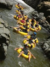 Tubing - Induna Adventures. Geckoiing (Tubing) rocks! Probably the best way to descend a low-volume river like the Sabie. A Gecko is a very small raft that you steer with webbed gloves, no paddles needed. Easy to steer and very safe.