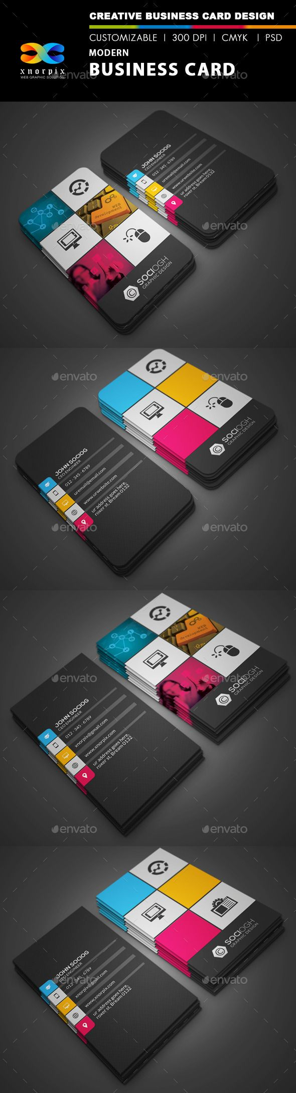 Modern Business Card #brand #business #business card • Available here → http://graphicriver.net/item/modern-business-card/3025368?s_rank=164&ref=pxcr