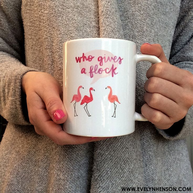 For the mornings when you just can't even, let these cheeky flamingos do the talking. Illustrated by artist Evelyn Henson, this 11oz ceramic mug is dishwasher and microwave safe.