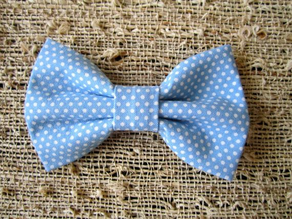 Blue Polka Dot Baby Bow Tie...Toddler Bow Tie...UNC Bow Tie on Etsy, $8.00