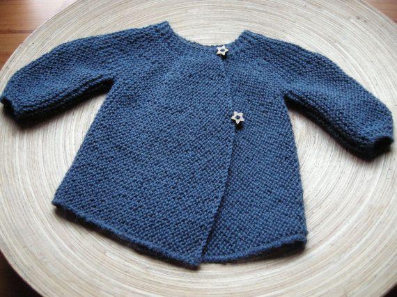ANKA Vintage inspired baby sweater 100% by AtelierLuneDeNacre