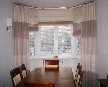 Wykusz Firany Rolety Zasłony Dekoracja Okna Wnętrza