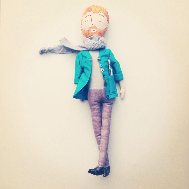 Meet Van Gogh #personalitoys #uniquehandmadetoys #fabricdoll