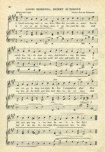 Vintage Sheet Music Digital Download Page Old Book Sunshine Song