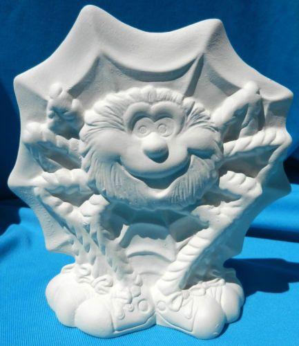crazy spider web ceramic bisque halloween - Ceramic Halloween Decorations