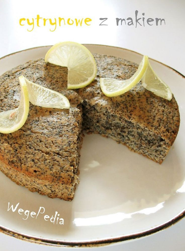ciasto cytrynowe z makiem fit