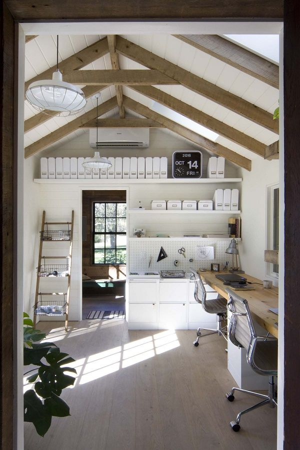 100 Charming Farmhouse Office Decor Ideas For Your Home Tiny
