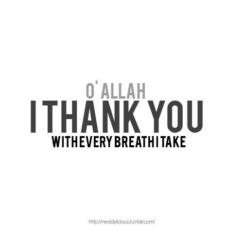 thank you Allah ♡