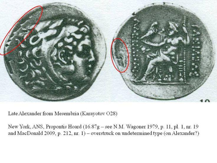 Greek overstrike Thrace Late Alexander of Mesambria (on Alexander ?)