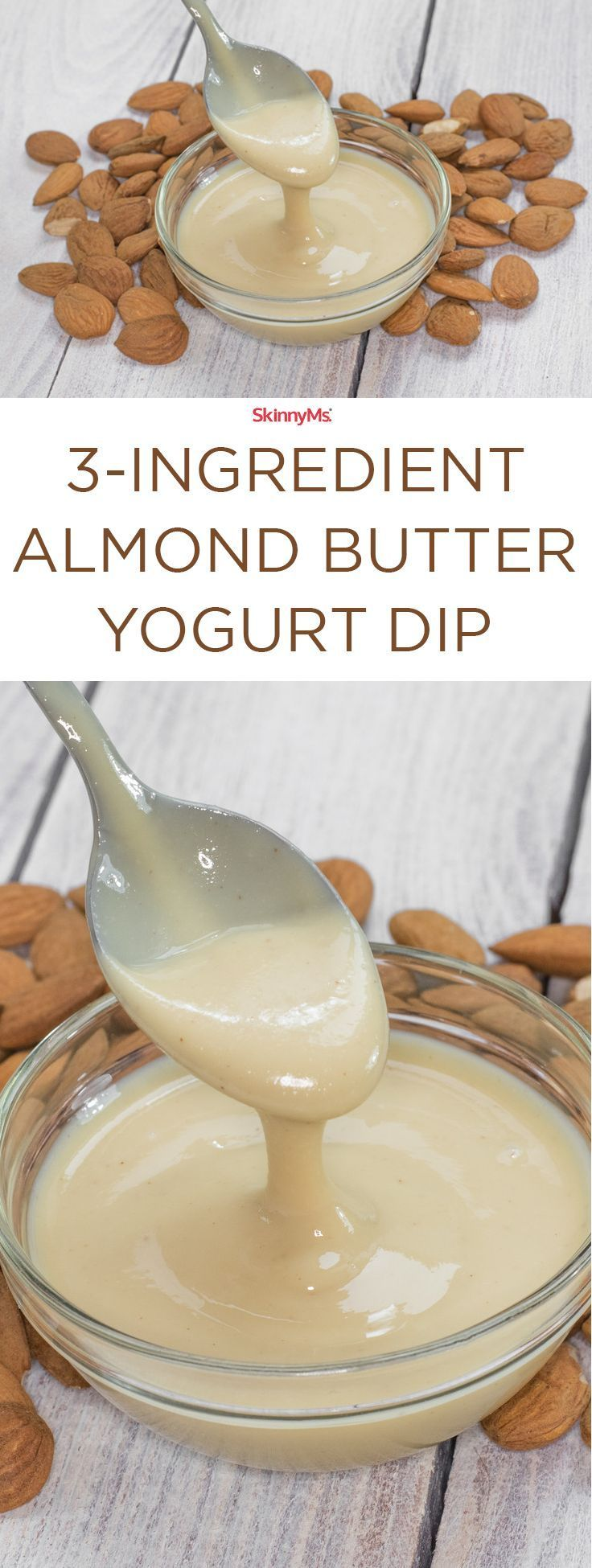 Jazz up your next event with this 3-Ingredient Almond Butter Yogurt Dip!