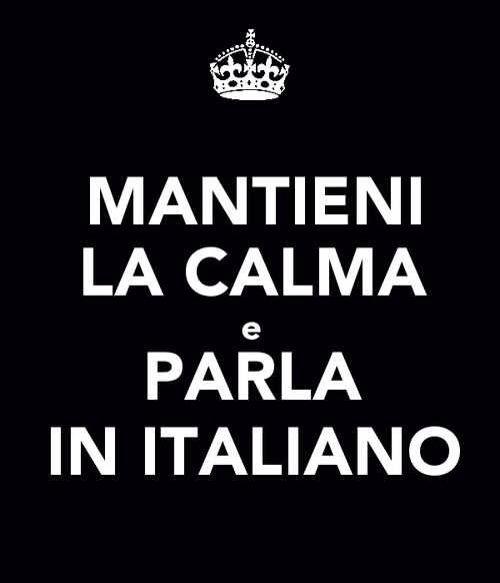 Parla in italiano.