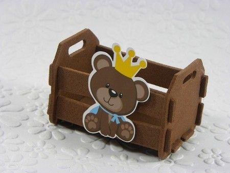 Caixote de EVA para doces Ursinho Príncipe-Cortes para Montar www.petilola.com.br