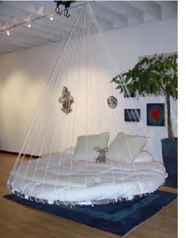 41 best dream bedroom decor images on pinterest for Hanging circle bed